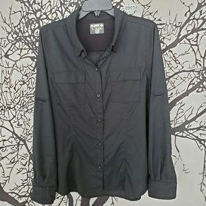 REEL LEGENDS Salt Water Button Up Shirt Top Long